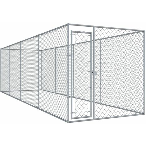 Outdoor-Hundezwinger 7,6x1,9x2 m