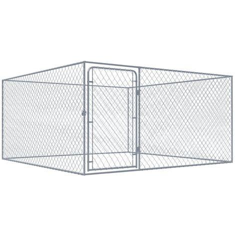 Outdoor-Hundezwinger Verzinkter Stahl 2x2x1 m