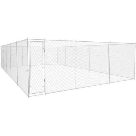 Outdoor-Hundezwinger Verzinkter Stahl 950x570x185 cm