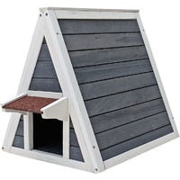 Outdoor Indoor Wooden Cat House Cat Shelter Feral Cave Weatherproof Escape Door