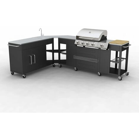 Outdoor Kitchen Barbecue Missouri 4 Burners