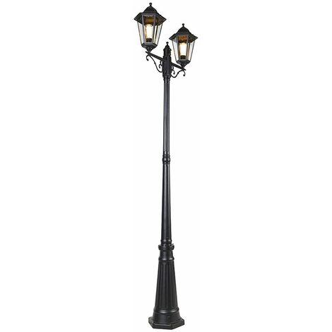 "main image of ""Outdoor lantern black 220 cm 2-light IP44 - New Orleans"""