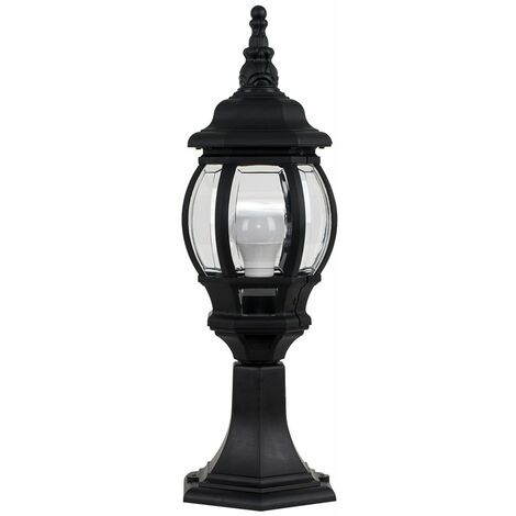 Outdoor LED IP44 Light Rainpoof - Post Top Lantern - Black