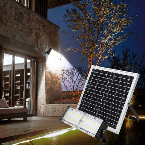 Outdoor LED Spotlight with Integrated Solar Panel 5000 lumens FLOOD