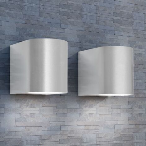 Outdoor LED Wall Lights 2 pcs Round Downwards