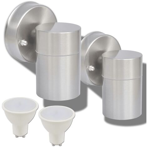 Outdoor LED Wall Lights 2 pcs Stainless Steel Downwards