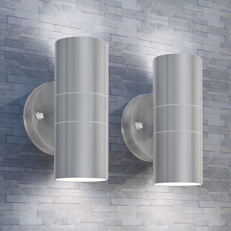 Outdoor LED Wall Lights 2 pcs Stainless Steel Up/Downwards
