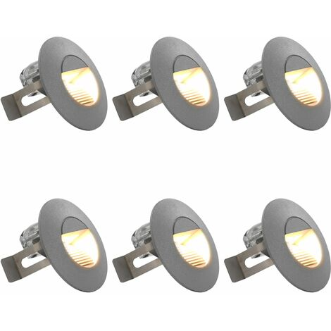 Outdoor LED Wall Lights 6 pcs 5 W Silver Round