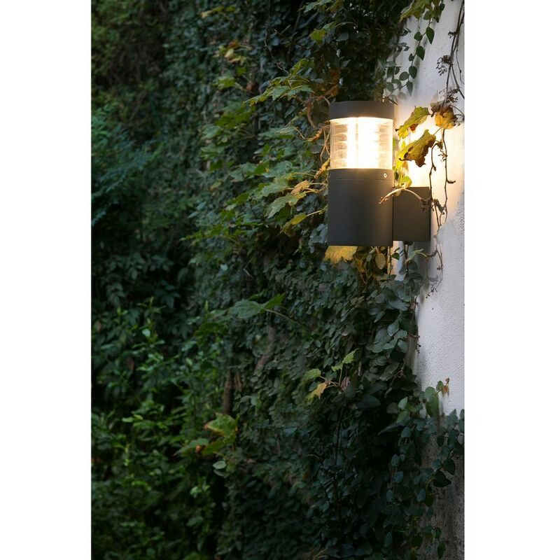 LED Außenwandleuchte GIZA 12W 3000K IP54 Dunkelgrau