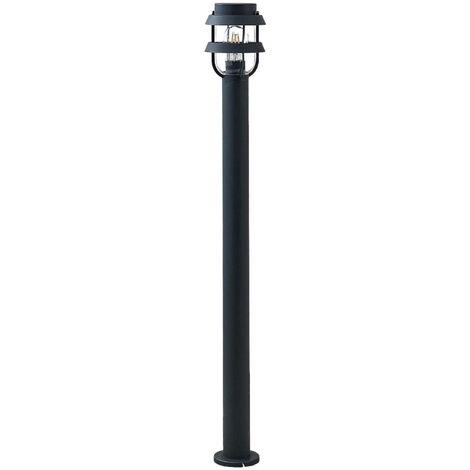 Outdoor lights 'Alvaro' dimmable (scandinavian) in Black made of Aluminium (1 light source, E27, A++) from Lindby | garden light, path light, bollard light, path lamp, pillar light