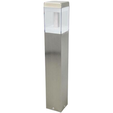 Outdoor lights 'Baily' (modern) in Silver made of Stainless Steel (1 light source, A+) from Lindby | pillar lights, garden light, path light, bollard light, path lamp, pillar light