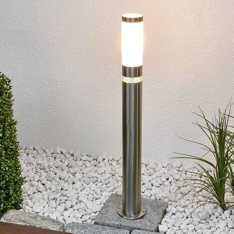 Outdoor lights 'Binka' (modern) in Silver made of Stainless Steel (1 light source, E27, A++) from Lindby | garden light, path light, bollard light, path lamp, pillar light
