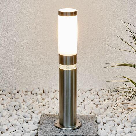 Outdoor lights 'Binka' (modern) in Silver made of Stainless Steel (1 light source, E27, A++) from Lindby | pillar lights, garden light, path light, bollard light, path lamp, pillar light