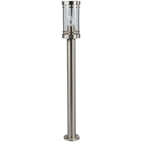Outdoor lights 'Djori' (modern) in Silver made of Stainless Steel (1 light source, E27, A++) from Lindby | garden light, path light, bollard light, path lamp, pillar light