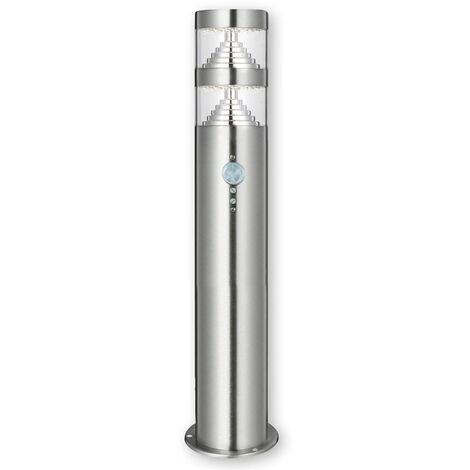 Outdoor lights 'Lanea' (modern) in Silver made of Stainless Steel (1 light source, A+) from Lindby | pillar lights, garden light, path light, bollard light, path lamp, pillar light