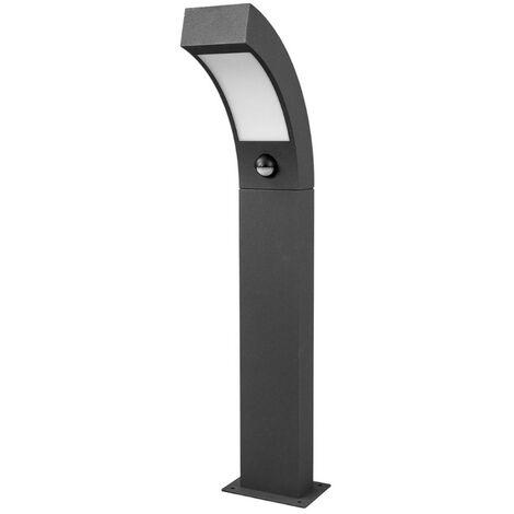 Outdoor lights 'Lennik' with motion detector (modern) in Black made of Aluminium (1 light source, A+) from Lucande | garden light, path light, bollard light, path lamp, pillar light