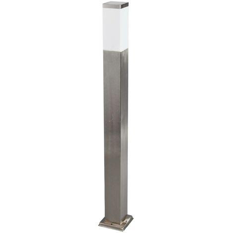 Outdoor lights 'Lorian' (modern) in Silver made of Stainless Steel (1 light source, E27, A++) from Lindby | garden light, path light, bollard light, path lamp, pillar light