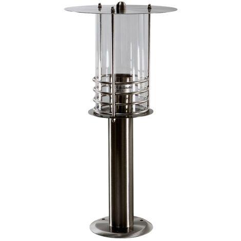 Outdoor lights 'Miko' (modern) in Silver made of Stainless Steel (1 light source, E27, A++) from Lindby | pillar lights, garden light, path light, bollard light, path lamp, pillar light