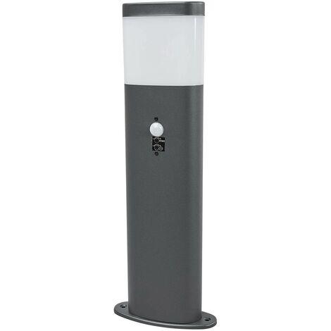 Outdoor lights with sensor 'Marius' (modern) in Silver made of Stainless Steel (1 light source, A+) from Lindby | pillar lights, garden light, path light, bollard light, path lamp, pillar light