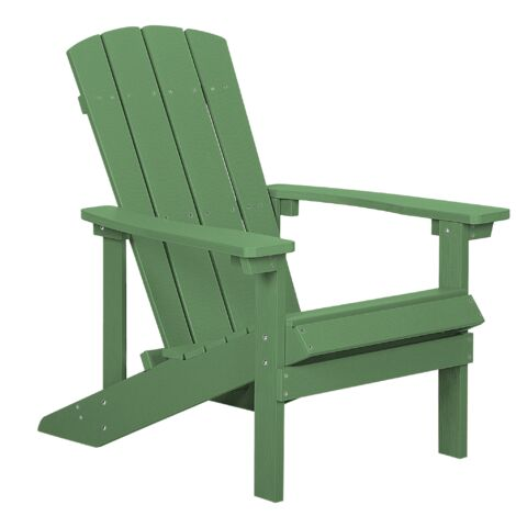 """main image of """"Outdoor Lounger Chair Green Plastic Wood for Patio Yard Adirondack"""""""