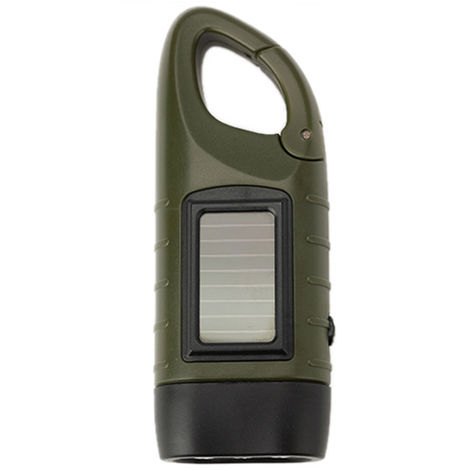 Outdoor Multifunctional LED Solar Power Mini Emergency Hand Crank Dynamo Flashlight Rechargeable Lamp Charging Powerful