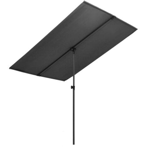 Outdoor Parasol with Aluminium Pole 180x130 cm Anthracite
