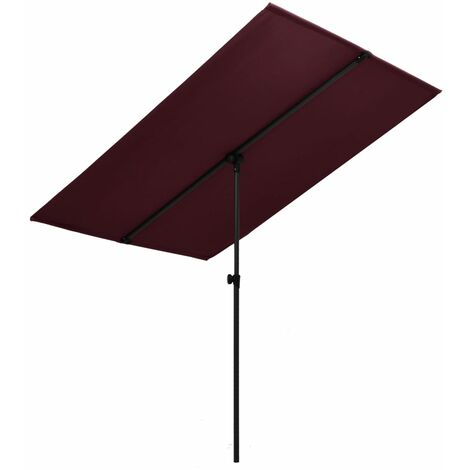 Outdoor Parasol with Aluminium Pole 180x130 cm Bordeaux Red