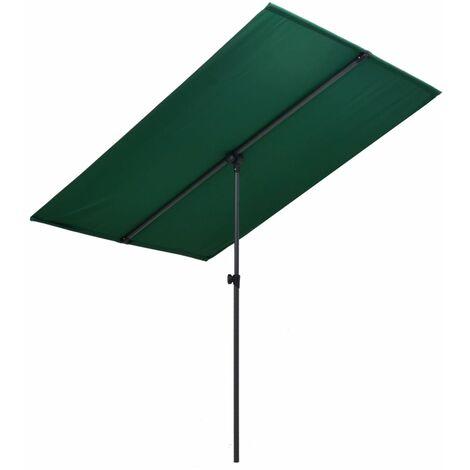 Outdoor Parasol with Aluminium Pole 180x130 cm Green