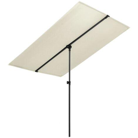Outdoor Parasol with Aluminium Pole 180x130 cm Sand White