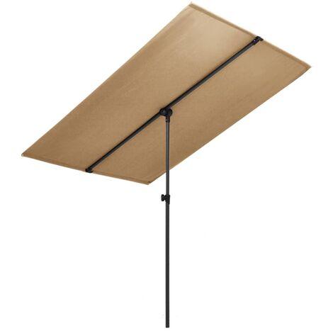 Outdoor Parasol with Aluminium Pole 180x130 cm Taupe