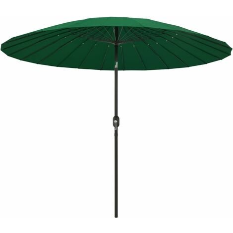 Outdoor Parasol with Aluminium Pole 270 cm Green