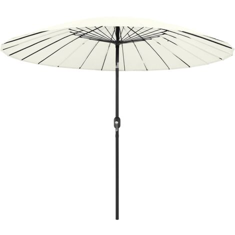 Outdoor Parasol with Aluminium Pole 270 cm Sand White