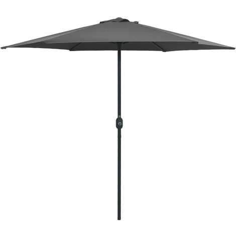 Outdoor Parasol with Aluminium Pole 270x246 cm Anthracite