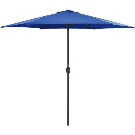 Outdoor Parasol with Aluminium Pole 270x246 cm Azure Blue