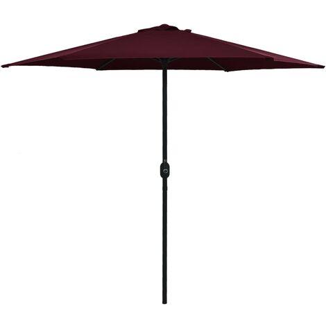 Outdoor Parasol with Aluminium Pole 270x246 cm Bordeaux Red