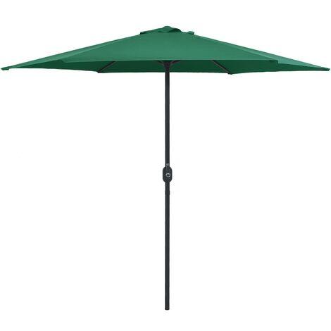 Outdoor Parasol with Aluminium Pole 270x246 cm Green