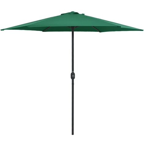 Outdoor Parasol with Aluminium Pole 270x246 cm Green - Green