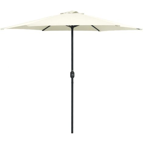 Outdoor Parasol with Aluminium Pole 270x246 cm Sand White