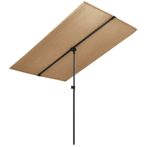 Outdoor Parasol with Aluminium Pole 2x1,5 m Taupe