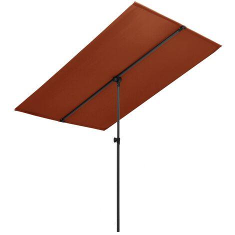 Outdoor Parasol with Aluminium Pole 2x1,5 m Terracotta