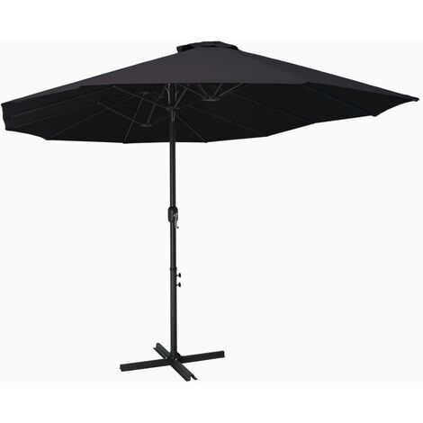 Outdoor Parasol with Aluminium Pole 460x270 cm Black