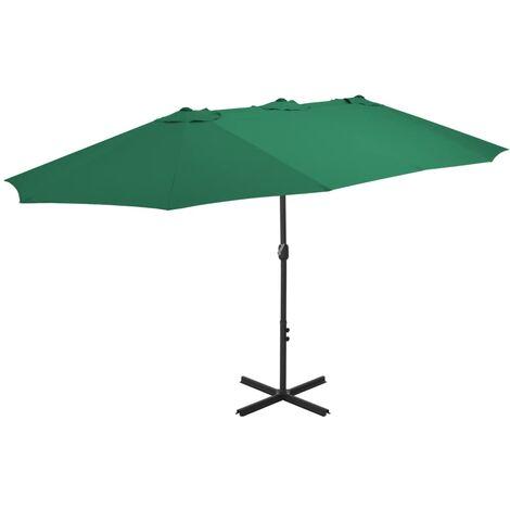 Outdoor Parasol with Aluminium Pole 460x270 cm Green