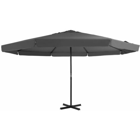 Outdoor Parasol with Aluminium Pole 500 cm Anthracite