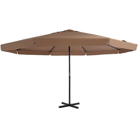 Outdoor Parasol with Aluminium Pole 500 cm Taupe