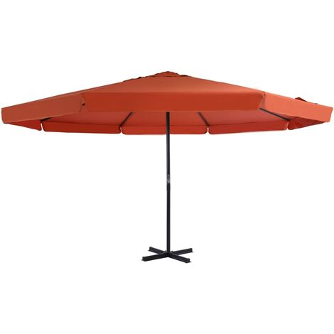 Outdoor Parasol with Aluminium Pole 500 cm Terracotta