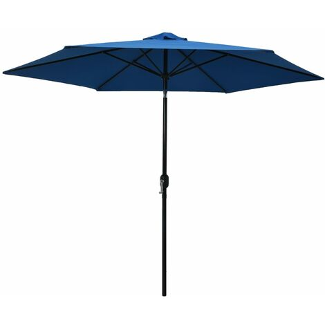 Outdoor Parasol with Metal Pole 300 cm Azure