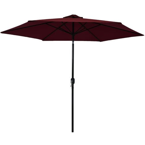 Outdoor Parasol with Metal Pole Bordeaux Red 300 cm