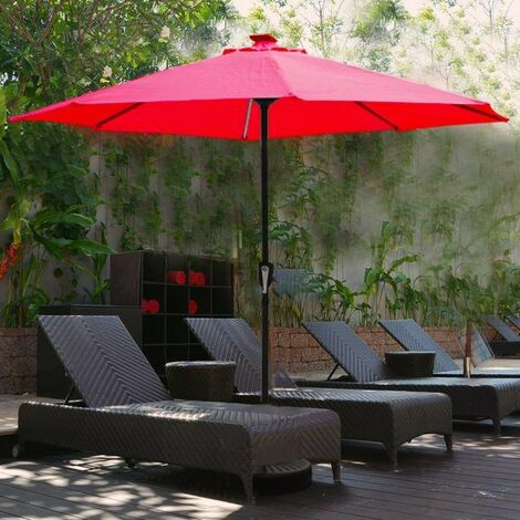 Outdoor Parasol With Solar LED light