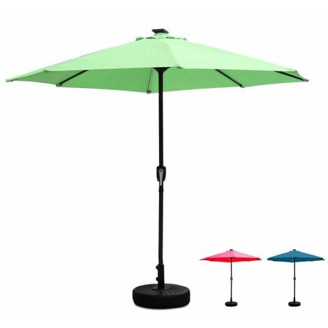 Outdoor Parasol With Solar LED light - Red