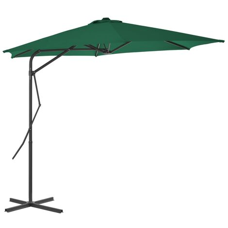 Outdoor Parasol with Steel Pole 300 cm Green